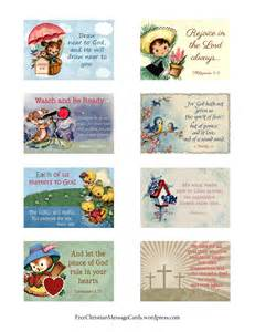 Religious Printable Cards - free printable christian message cards variety sheet 07