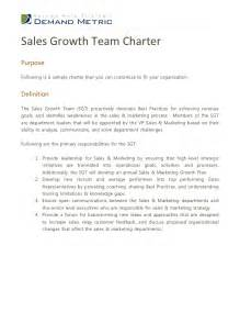 team charters templates sales growth team charter