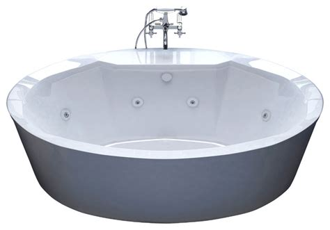 Jetted Tub Venzi Sole 34 X 68 Oval Freestanding Whirlpool Jetted