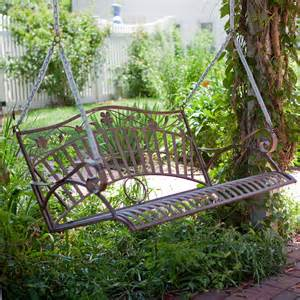 coral coast garden gate 4 ft wrought iron porch swing at hayneedle