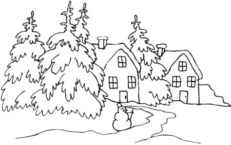 snow landscape coloring page learn to coloring april 2011