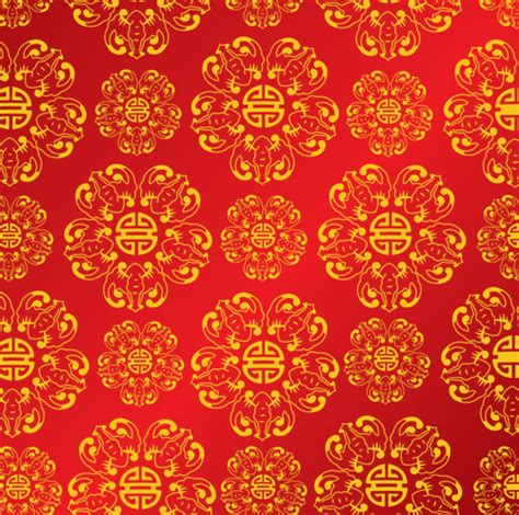 chinese gold pattern vector chinese patterns1 vector free vectors vector me