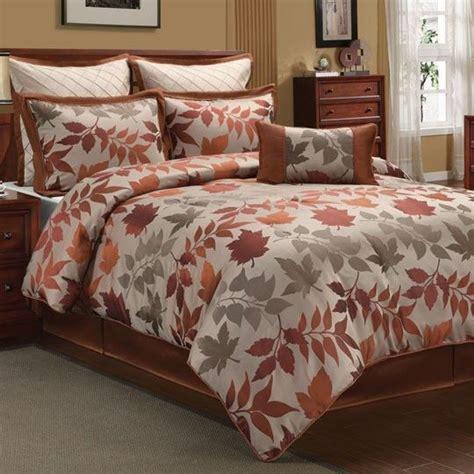 fall bedding sets autumn spice 7 comforter set 120 00 new