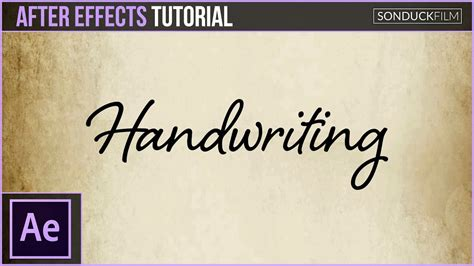 tutorial after effect animation after effects tutorial handwriting effect animation youtube