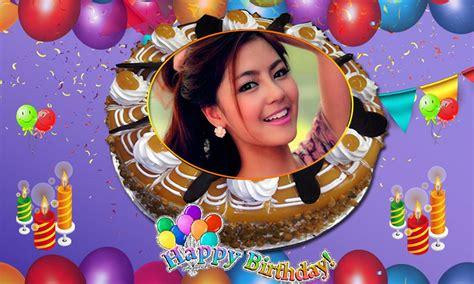 Kue Cinta nama foto di ulang tahun kue cinta bingkai editor apk