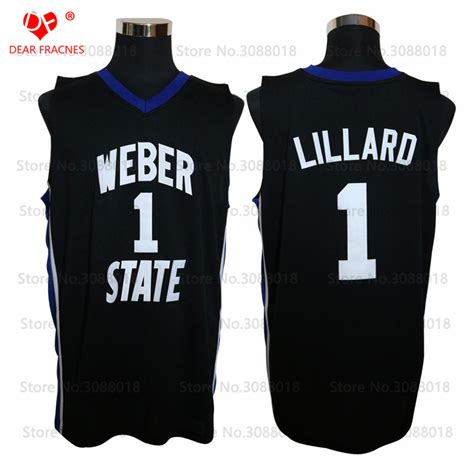 Weber State Mba Shirt new cheap weber state 1 damian lillard jersey throwback