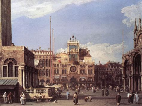 ottica canaletto piazza san marco the clocktower 1730 canaletto