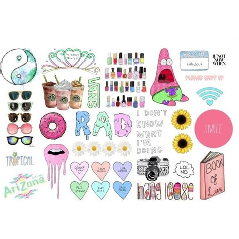 girly doodle ideas transparent collage 2 by esteehearts on polyvore