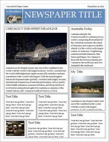 Newspaper Template by Newspaper Template 19 Free Documents In Pdf