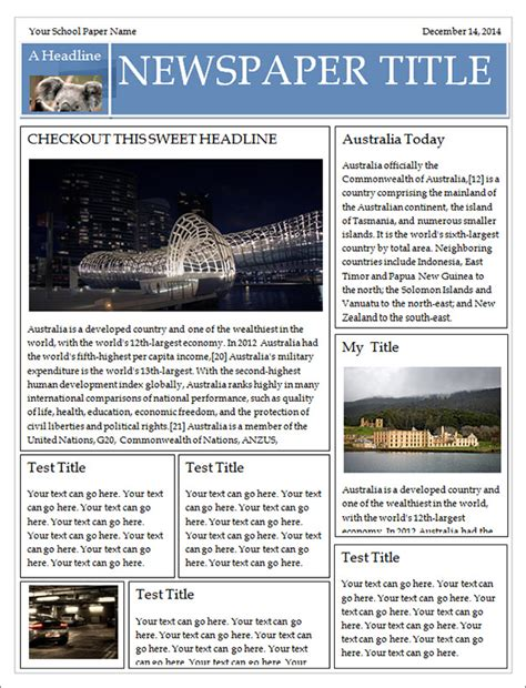 42 Amazing Newspaper Templates Sle Templates Microsoft Word Newspaper Template