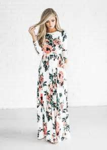 picture of a delicate long sleeve floral maxi dress