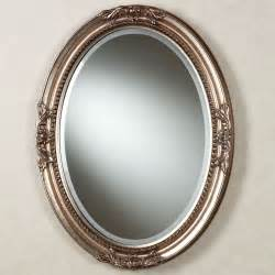 Antique Looking Bathroom Vanity Andina Oval Wall Mirror