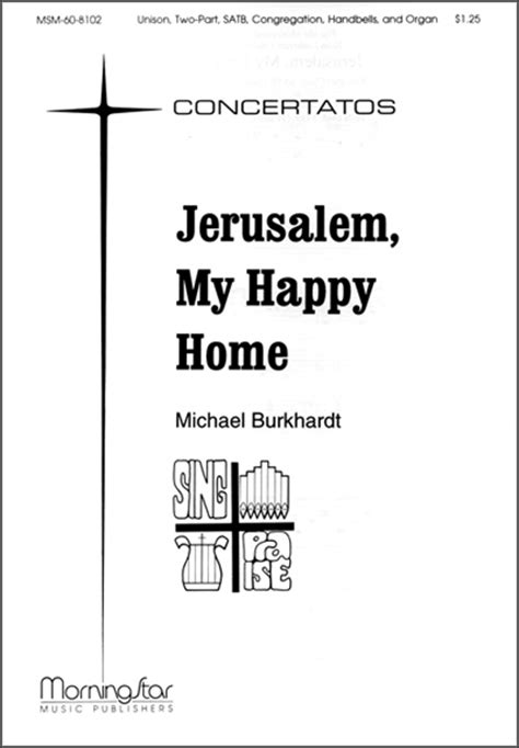 jerusalem my happy home sheet by michael burkhardt