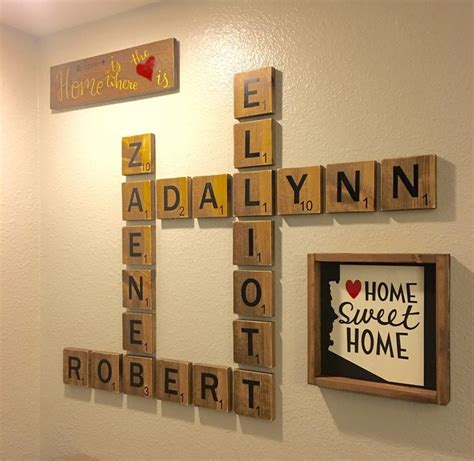 scrabble letters home decor wall decor attractive scrabble letter wall decor