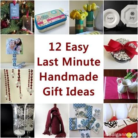 12 easy last minute handmade holiday gift ideas
