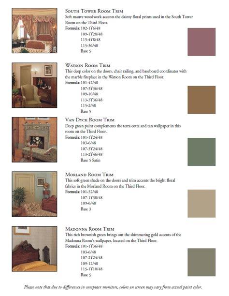 paint colors of biltmore estate rooms asheville nc http www biltmore pdfs paint pdf
