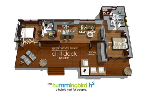 hummingbird h3 house plans hummingbird h2 3973 2 bedrooms and 2 5 baths the house designers