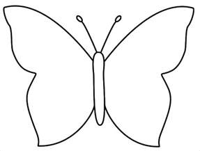 Butterfly Outline Printable by 30 Butterfly Templates Printable Crafts Colouring Pages Free Premium Templates