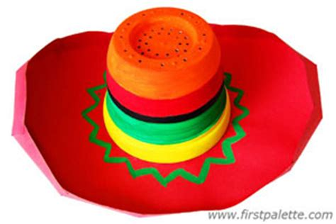 How To Make A Sombrero Hat Out Of Paper - sombrero craft crafts firstpalette