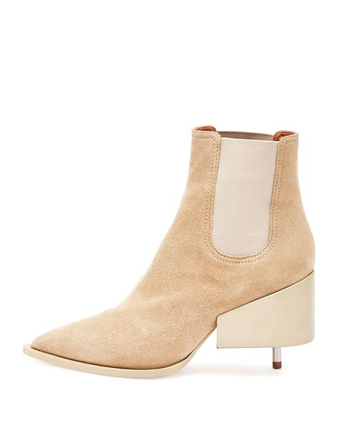 givenchy heel suede chelsea boots in beige save 71