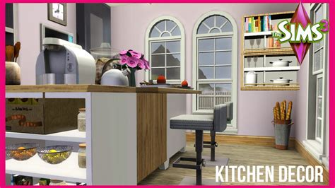 sims 3 home decor the sims 3 the baseline kitchen decor youtube
