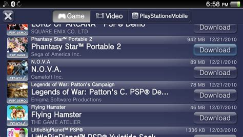On Vita List sony removes the ability to previously unsupported psp psone on vita psnstores
