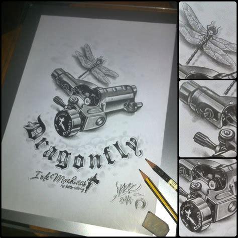 dragonfly tattoo machine dragonfly machine pencil drawing by blaze
