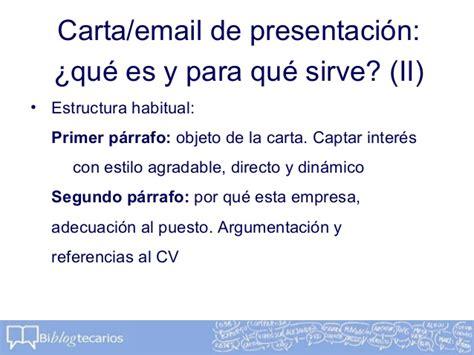 Modelo Carta Presentacion Curriculum Por Email Taller Quot C 243 Mo Redactar Un Cv Quot