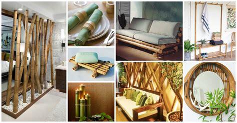 fantasticas decoraciones de bambu  tu hogar