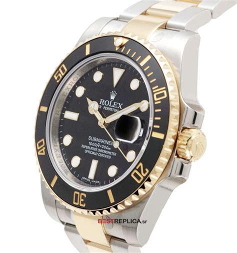 Rolex Submarine 2 gmt master ii 2tone black ceramic bezel side bestreplica sr