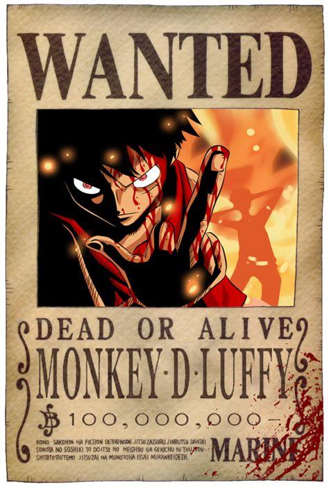 membuat poster buronan one piece luffy s bounty poster by jaredofart on deviantart
