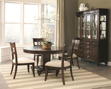 round table dining room sets dallas designer furniture alyssa formal dining room set