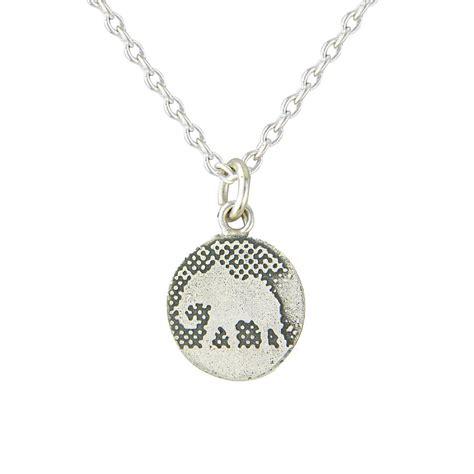 sterling silver elephant pendant by lowe