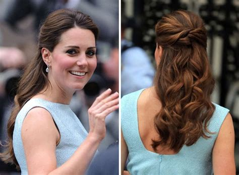 kate middleton wedding hair tutorial kate middleton s hair in blue dress get her look with