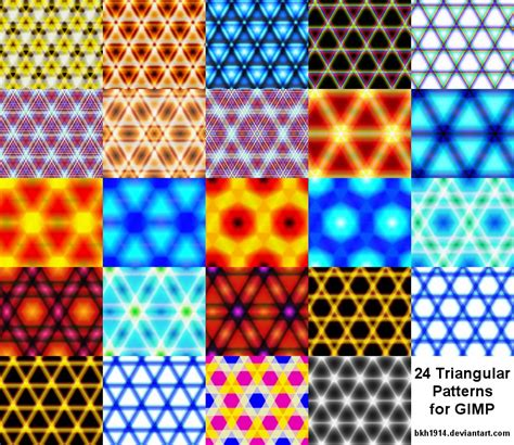 Triangle Pattern Gimp | 24 triangle patterns for gimp by bkh1914 on deviantart