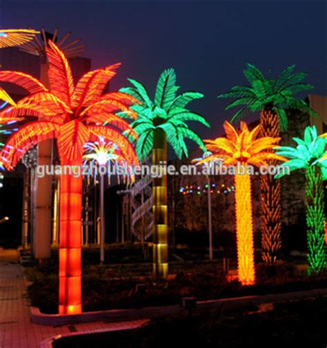 lighted palm trees outdoor led artificial decorative outdoor lighted palm tree buy