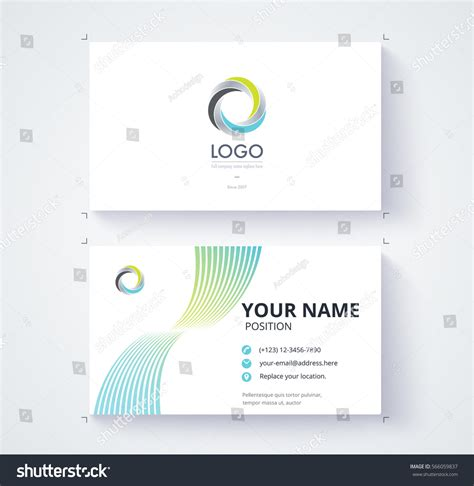 motion graphics business card template business card template abstract motion line stock vector