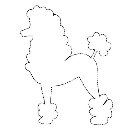 poodle applique template poodle applique pattern design patterns travel