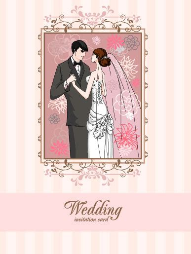 Wedding Card Vector Ai by Wedding Card Background Vector Free Vector In Adobe
