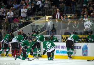 players bench dallas dallas hockey player rich peverley collapses on