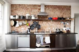 Wall Kitchen Design Creative Brick Wall Kitchen Design Ideas