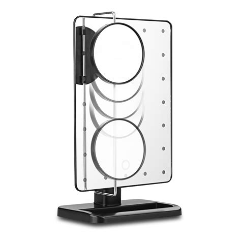 portable mirror with lights portable makeup mirror 20led 10x magnifier vanity lighted