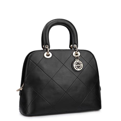 Black Fashion Bag europe and the united states real leather fashion bag black