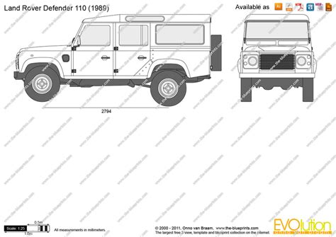 land rover defender vector the blueprints com vector drawing land rover defender 110