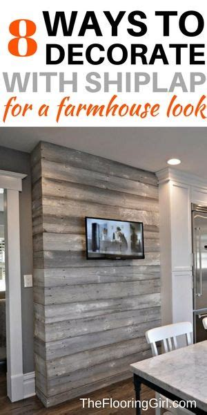 wohnzimmer holzwand 8 ways to decorate with shiplap for a modern farmhouse