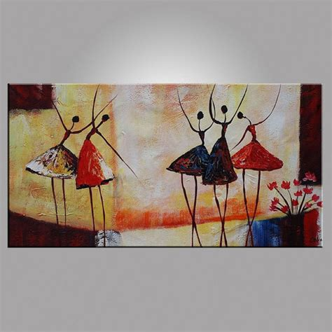 painting for home decor abstract ballet dancer oil painting on canvas figurative
