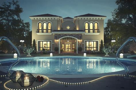 House Plans With Pools And Outdoor Kitchens by Tuscan Inspired Villa In Dubai Idesignarch Interior