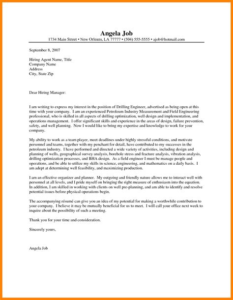 Cover Letter For Mechanical Engineer by 10 Mechanical Engineering Cover Letter New Wood