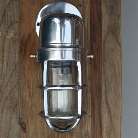 harbourwall industrial cage bulkhead wall light with glass