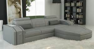 deco in canape d angle cuir design gris jupiter